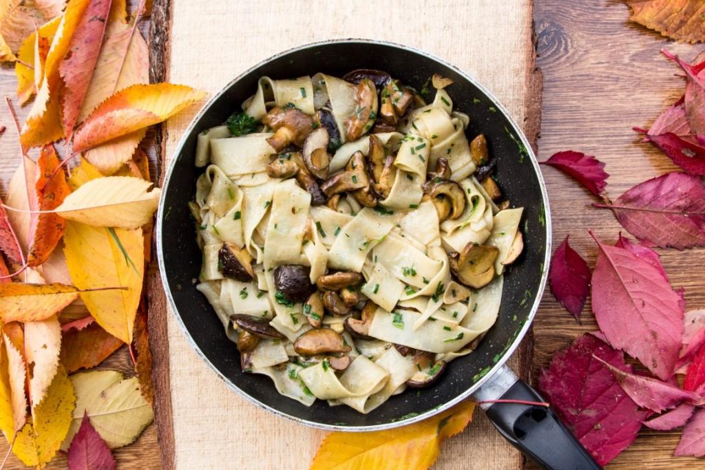 Nudeln-Pappardelle-mit-Pilzen-17