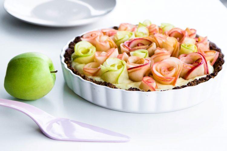 Apfelrosen-Kuchen-mit-Walnussboden-Rezept-18