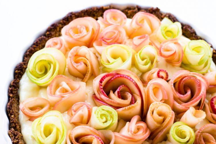 Apfelrosen-Kuchen-mit-Walnussboden-Rezept-7
