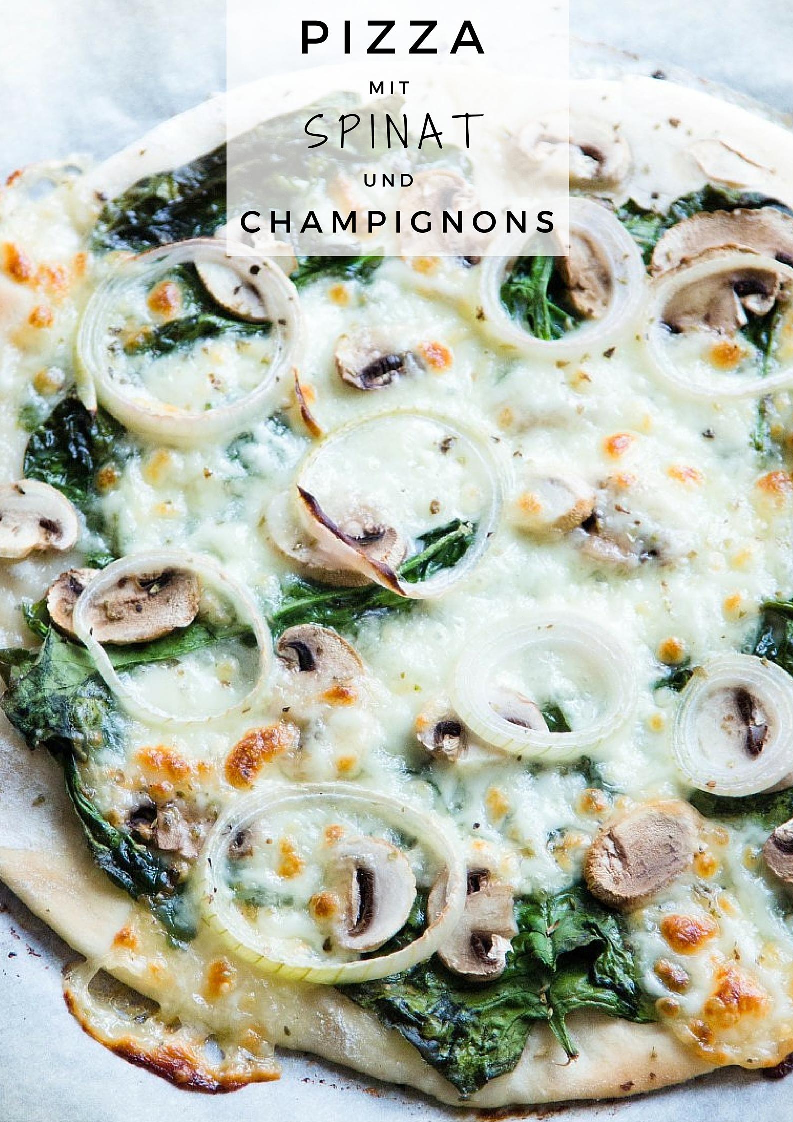 Pizza-mit-Spinat-und-Champignons-Zwiebeln-Rezept-13