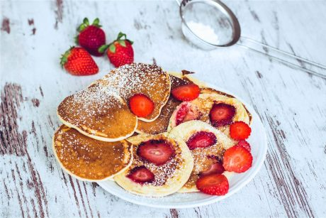 Joghurt Plätzchen mit Erdbeeren