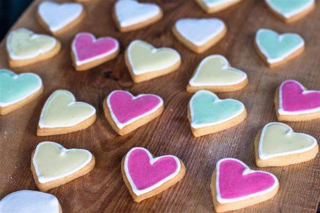 Kekse in Herzform