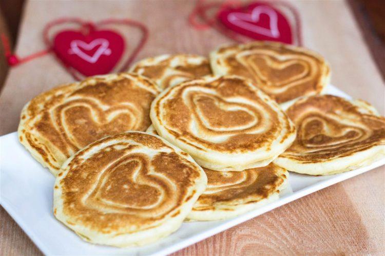 Pancakes mit Herz